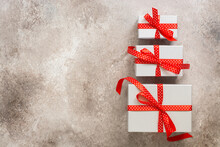 Set Of Holiday Gift Boxes With...
