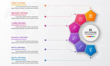 Pentagon Element For Infograph...