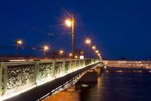 Palace Bridge At Night In Sain...