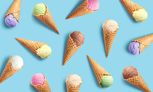 Colorful Ice Cream Pattern On ...