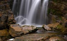 Nahaufnahme Eines Wasserfalles