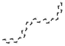 Human Footprints Path Vector Images