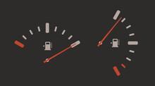 Fuel Gauge Indicator Vector Ic...