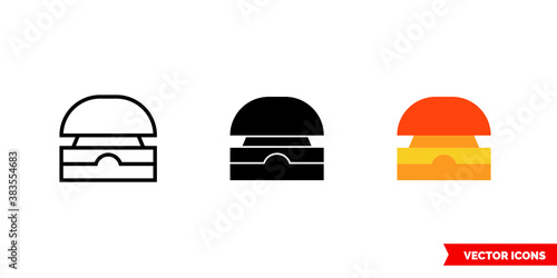 Leinwand Poster Buzzer icon of 3 types color, black and white, outline