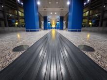 Empty Airport Corridor Interio...