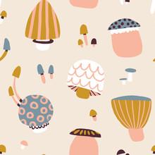 Mushroom Seamless Repeat Pattern