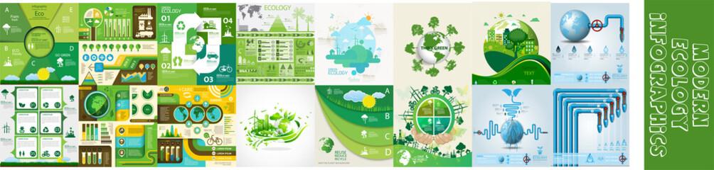 Modern ecology infographics