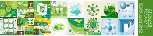 Canvas Print Modern ecology infographics