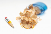 Closeup Of Sharpened Pencil Wi...