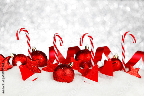 Christmas decoration and candies