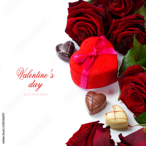 St. Valentine's Day roses and chocolate