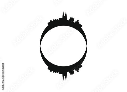 Obraz na plátne skyline of burgos city in spain.