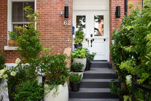 Stylish Front Entrance Of Brow...