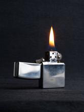 Close-up Of Metal Gas Lighter ...
