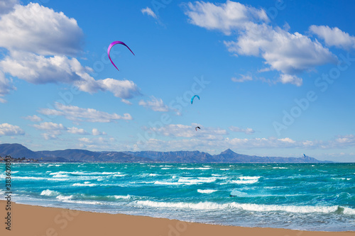 Kite surf in Denia Oliva Gandia in Valencian Community