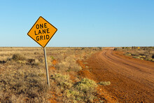 One Lane Grid Sign On Outback ...