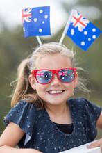 Young Girl With Australian Fla...