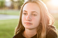 Teenage Girl Looking Wistful,w...