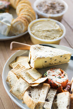 Cheese,dips And Crackers