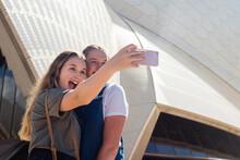 Friends Taking Selfie At Sydne...