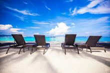 Beach Chairs In Exotic Resort ...