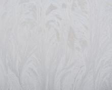 Frosty Pattern On Glass Winter...