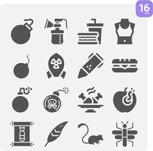 Simple Set Of Turkey Related Filled Icons.