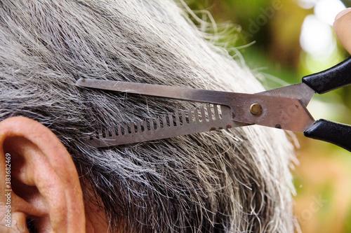 Fototapeta cut the hair
