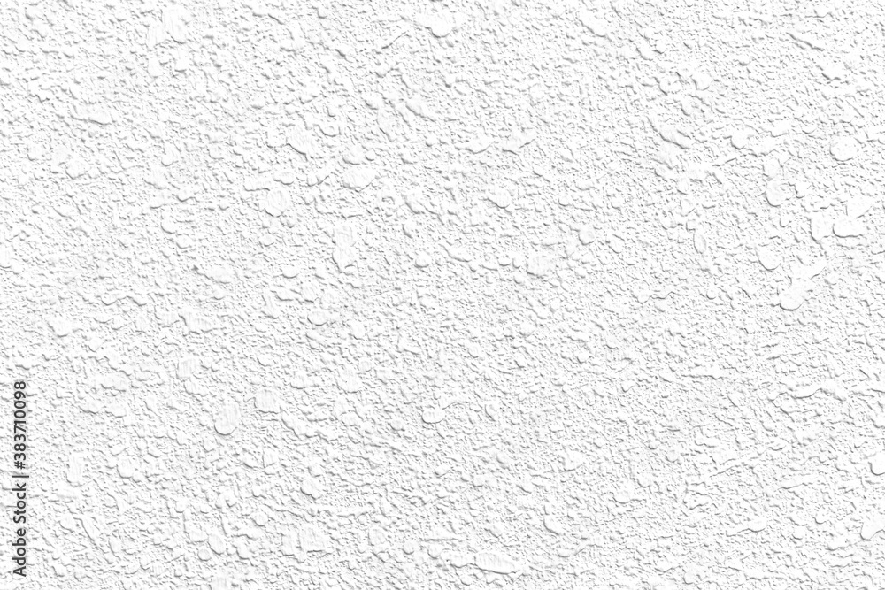 Fototapeta Rough patterned white cement wall texture and seamless background