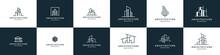 Set Of Building Logo Design Inspiration