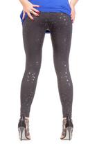 Sexy Stylish Legs In Shimmering Black Leggins