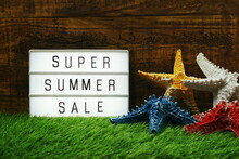 Summer Sale Text In Light Box ...