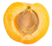 Apricot Sectioned By Knife