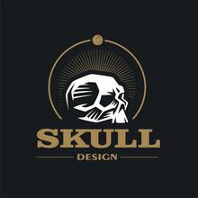 Skull Stylized Illustration.