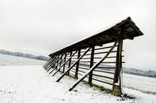 Hayrack In Winter
