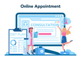 Nutritionist online service or platform. Nutrition therapy