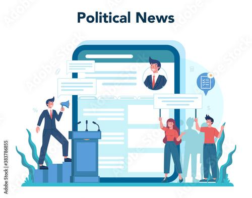 Cuadros en Lienzo Politician online service or platform set. Idea of election