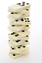 Tower From Bones Of A Dominoes