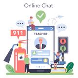 Healthy lifestyle class online service or platform set. Idea of life