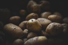 Closeup Of Homegrown Potatoes ...
