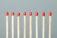 Standing Match Sticks On Light...