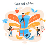 Slimming specialist. Diet, plan, healthy, food, physical, activity.