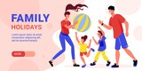 Family Holidays Horizontal Banner
