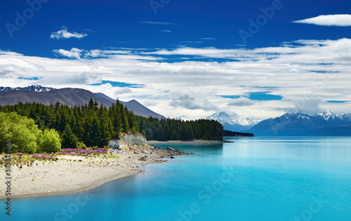 Pukaki lake, New Zealand