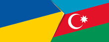 Ukraine And Azerbaijan Flags, Two Vector Flags.