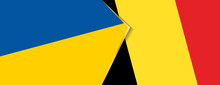 Ukraine And Belgium Flags, Two Vector Flags.