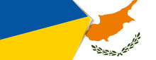 Ukraine And Cyprus Flags, Two Vector Flags.