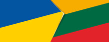 Ukraine And Lithuania Flags, Two Vector Flags.