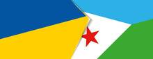 Ukraine And Djibouti Flags, Two Vector Flags.