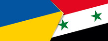Ukraine And Syria Flags, Two Vector Flags.